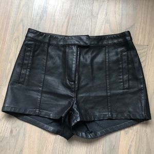 Leather Shorts from Revolve